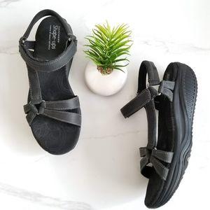 Skechers Shape Ups Dash Sport Sandals Black Shoes